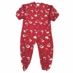 Children's Place Red & White Snowman Pajamas, 24m